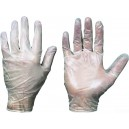 Перчатки одноразовые виниловые