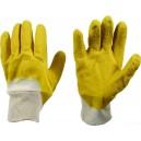 Перчатки латексные с обтягивающей вязан манжетой